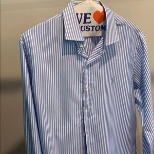 Polo Ralph Lauren Men's blue striped dress shirt